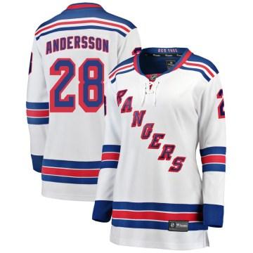Fanatics Branded New York Rangers Women's Lias Andersson Breakaway White Away NHL Jersey