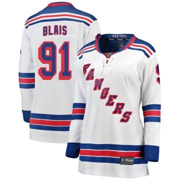 Fanatics Branded New York Rangers Women's Sammy Blais Breakaway White Away NHL Jersey
