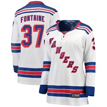 Fanatics Branded New York Rangers Women's Gabriel Fontaine Breakaway White Away NHL Jersey
