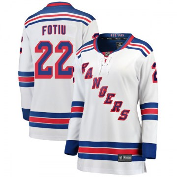 Fanatics Branded New York Rangers Women's Nick Fotiu Breakaway White Away NHL Jersey