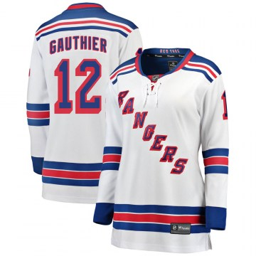 Fanatics Branded New York Rangers Women's Julien Gauthier Breakaway White ized Away NHL Jersey