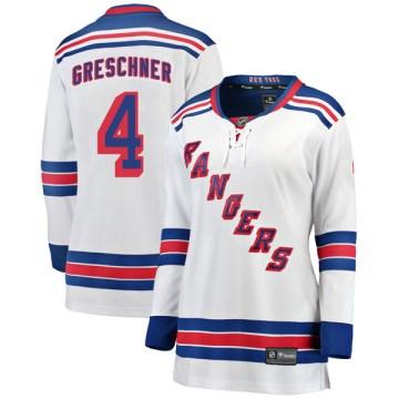 Fanatics Branded New York Rangers Women's Ron Greschner Breakaway White Away NHL Jersey