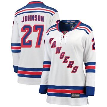Fanatics Branded New York Rangers Women's Jack Johnson Breakaway White Away NHL Jersey