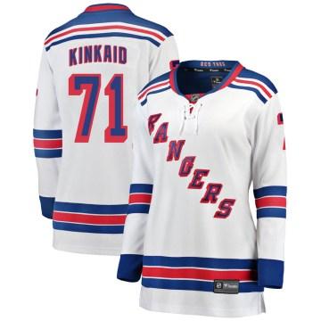 Fanatics Branded New York Rangers Women's Keith Kinkaid Breakaway White Away NHL Jersey