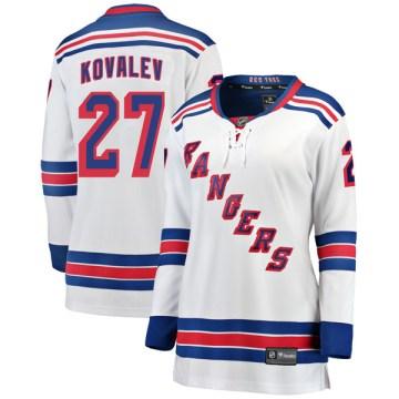 Fanatics Branded New York Rangers Women's Alex Kovalev Breakaway White Away NHL Jersey
