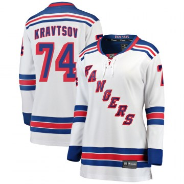 Fanatics Branded New York Rangers Women's Vitali Kravtsov Breakaway White ized Away NHL Jersey