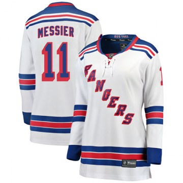 Fanatics Branded New York Rangers Women's Mark Messier Breakaway White Away NHL Jersey