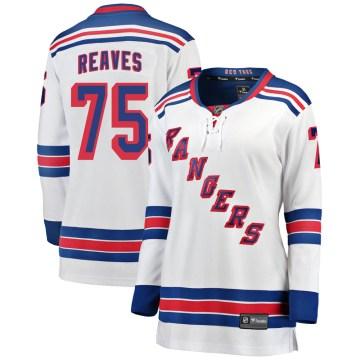 Fanatics Branded New York Rangers Women's Ryan Reaves Breakaway White Away NHL Jersey