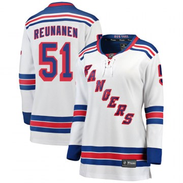 Fanatics Branded New York Rangers Women's Tarmo Reunanen Breakaway White Away NHL Jersey