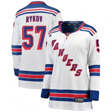 Fanatics Branded New York Rangers Women's Yegor Rykov Breakaway White Away NHL Jersey