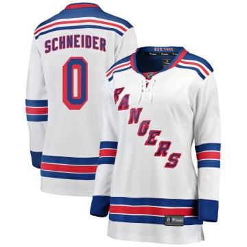 Fanatics Branded New York Rangers Women's Braden Schneider Breakaway White Away NHL Jersey