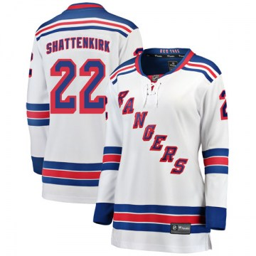 Fanatics Branded New York Rangers Women's Kevin Shattenkirk Breakaway White Away NHL Jersey