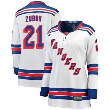 Fanatics Branded New York Rangers Women's Sergei Zubov Breakaway White Away NHL Jersey