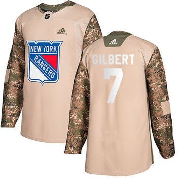 Adidas New York Rangers Youth Rod Gilbert Authentic Camo Veterans Day Practice NHL Jersey