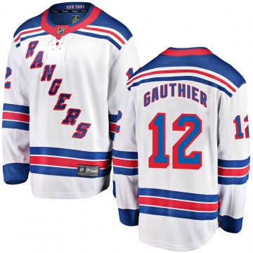 Fanatics Branded New York Rangers Men's Julien Gauthier Breakaway White ized Away NHL Jersey