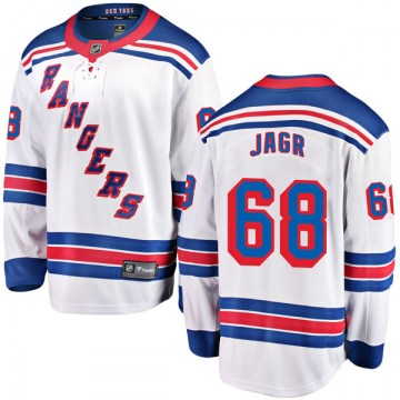 Fanatics Branded New York Rangers Men's Jaromir Jagr Breakaway White Away NHL Jersey