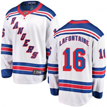 Fanatics Branded New York Rangers Men's Pat Lafontaine Breakaway White Away NHL Jersey