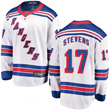 Fanatics Branded New York Rangers Men's Kevin Stevens Breakaway White Away NHL Jersey