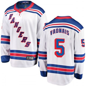 Fanatics Branded New York Rangers Men's Carol Vadnais Breakaway White Away NHL Jersey