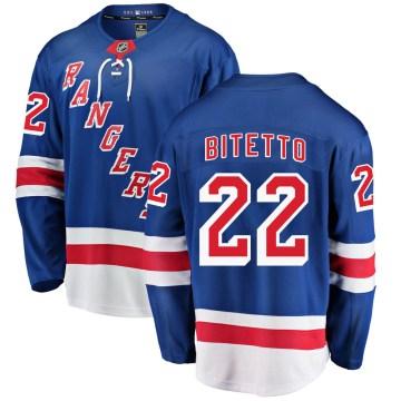 Fanatics Branded New York Rangers Men's Anthony Bitetto Breakaway Blue Home NHL Jersey