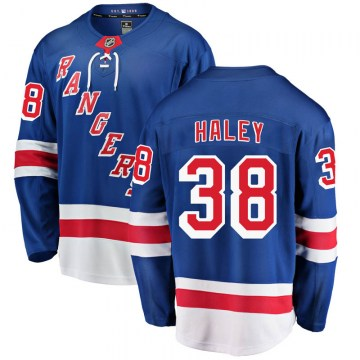Fanatics Branded New York Rangers Men's Micheal Haley Breakaway Blue Home NHL Jersey