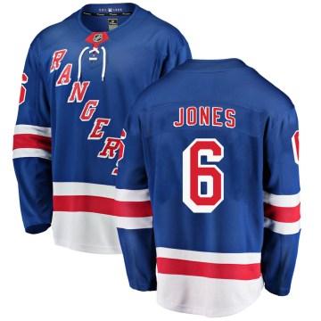 Fanatics Branded New York Rangers Men's Zac Jones Breakaway Blue Home NHL Jersey