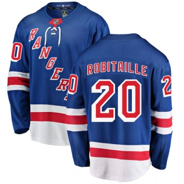 Fanatics Branded New York Rangers Men's Luc Robitaille Breakaway Blue Home NHL Jersey