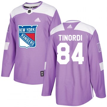 Adidas New York Rangers Men's Jarred Tinordi Authentic Purple Fights Cancer Practice NHL Jersey