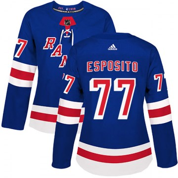 Adidas New York Rangers Women's Phil Esposito Authentic Royal Blue Home NHL Jersey