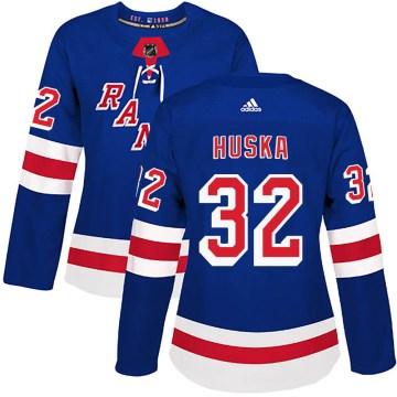 Adidas New York Rangers Women's Adam Huska Authentic Royal Blue Home NHL Jersey