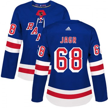 Adidas New York Rangers Women's Jaromir Jagr Authentic Royal Blue Home NHL Jersey