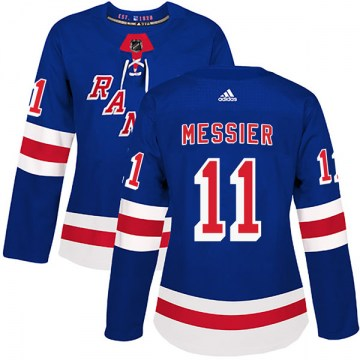Adidas New York Rangers Women's Mark Messier Authentic Royal Blue Home NHL Jersey