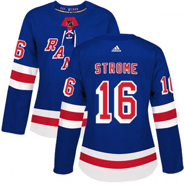 Adidas New York Rangers Women's Ryan Strome Authentic Royal Blue Home NHL Jersey