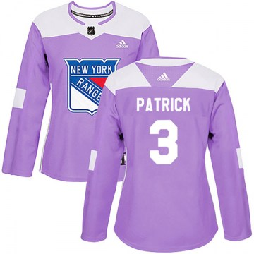 Adidas New York Rangers Women's James Patrick Authentic Purple Fights Cancer Practice NHL Jersey