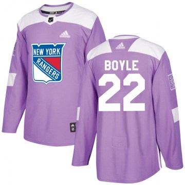 Adidas New York Rangers Youth Dan Boyle Authentic Purple Fights Cancer Practice NHL Jersey