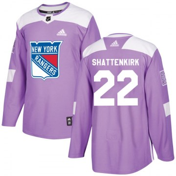 Adidas New York Rangers Youth Kevin Shattenkirk Authentic Purple Fights Cancer Practice NHL Jersey