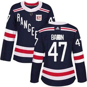 Adidas New York Rangers Women's Morgan Barron Authentic Navy Blue 2018 Winter Classic Home NHL Jersey