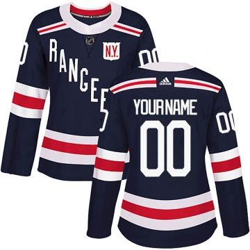 Adidas New York Rangers Women's Custom Authentic Navy Blue 2018 Winter Classic Home NHL Jersey