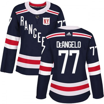 Adidas New York Rangers Women's Tony DeAngelo Authentic Navy Blue 2018 Winter Classic Home NHL Jersey