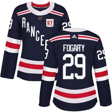 Adidas New York Rangers Women's Steven Fogarty Authentic Navy Blue 2018 Winter Classic Home NHL Jersey
