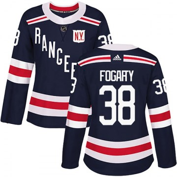 Adidas New York Rangers Women's Steven Fogarty Authentic Navy Blue 2018 Winter Classic Home NHL Jersey