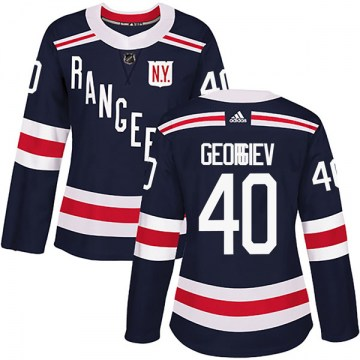 Adidas New York Rangers Women's Alexandar Georgiev Authentic Navy Blue 2018 Winter Classic Home NHL Jersey
