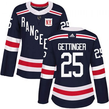 Adidas New York Rangers Women's Tim Gettinger Authentic Navy Blue 2018 Winter Classic Home NHL Jersey