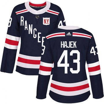 Adidas New York Rangers Women's Libor Hajek Authentic Navy Blue 2018 Winter Classic Home NHL Jersey