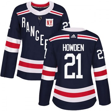 Adidas New York Rangers Women's Brett Howden Authentic Navy Blue 2018 Winter Classic Home NHL Jersey