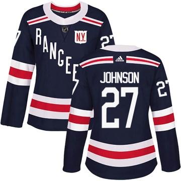 Adidas New York Rangers Women's Jack Johnson Authentic Navy Blue 2018 Winter Classic Home NHL Jersey