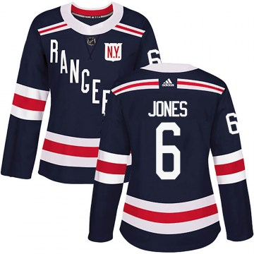 Adidas New York Rangers Women's Zac Jones Authentic Navy Blue 2018 Winter Classic Home NHL Jersey