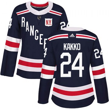 Adidas New York Rangers Women's Kaapo Kakko Authentic Navy Blue 2018 Winter Classic Home NHL Jersey