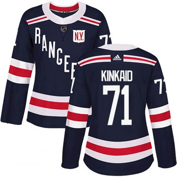 Adidas New York Rangers Women's Keith Kinkaid Authentic Navy Blue 2018 Winter Classic Home NHL Jersey