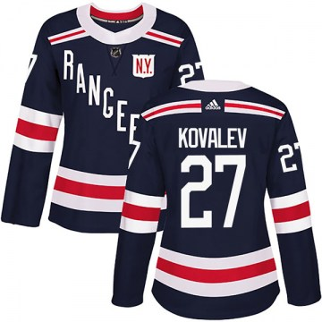 Adidas New York Rangers Women's Alex Kovalev Authentic Navy Blue 2018 Winter Classic Home NHL Jersey